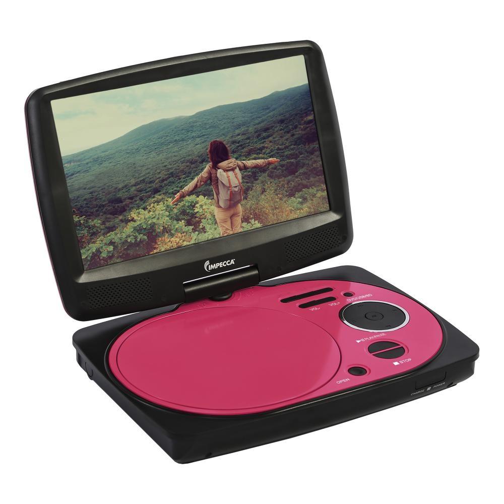 9 inch swivel portable dvd player pink. Black Bedroom Furniture Sets. Home Design Ideas