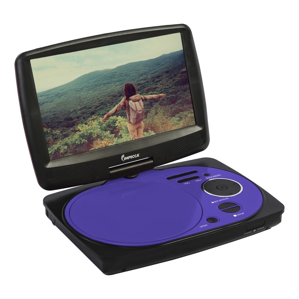 9 Inch Swivel Portable Dvd Player Purple