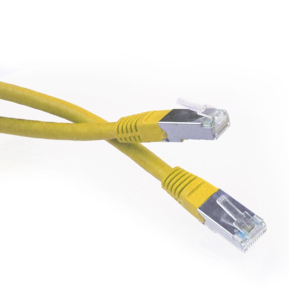 10 Ft Cat6 Rj45 Network Patch Cable Yellow