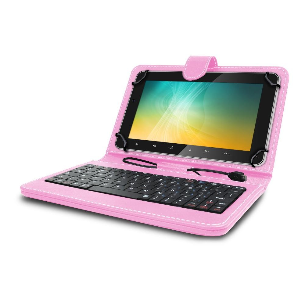 Universal Mini Keyboard Case Amp Stand For 8 Inch Tablets Pink