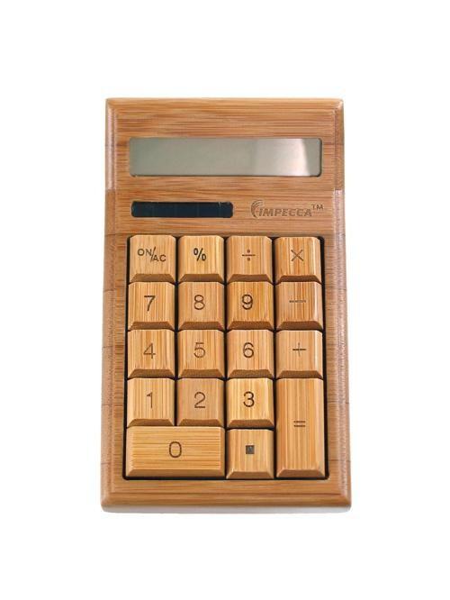 12 digit bamboo custom carved desktop calculator natural for Custom home calculator