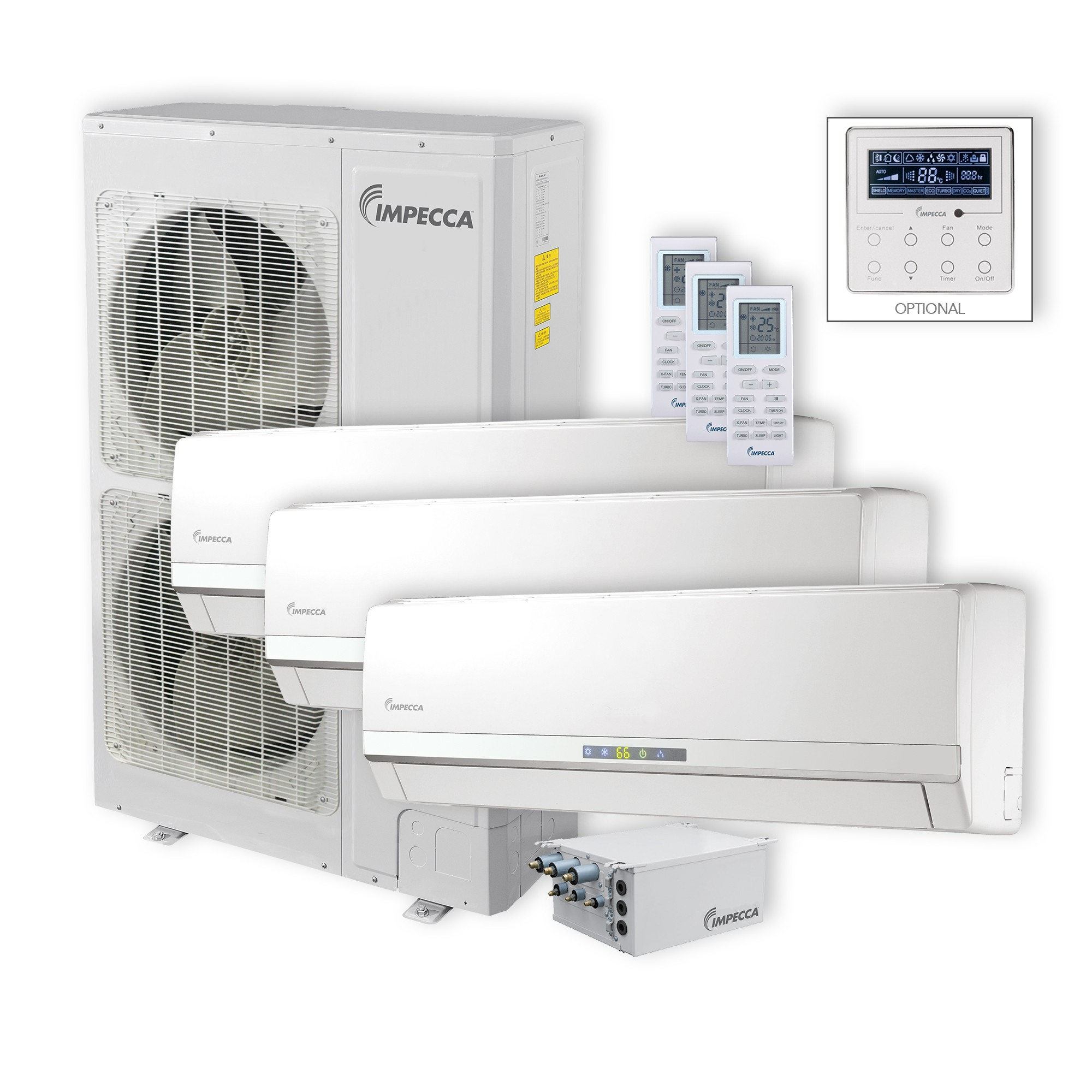 Wall Mounted Heat And Air Units : Flex series wall mounted indoor ductless split units