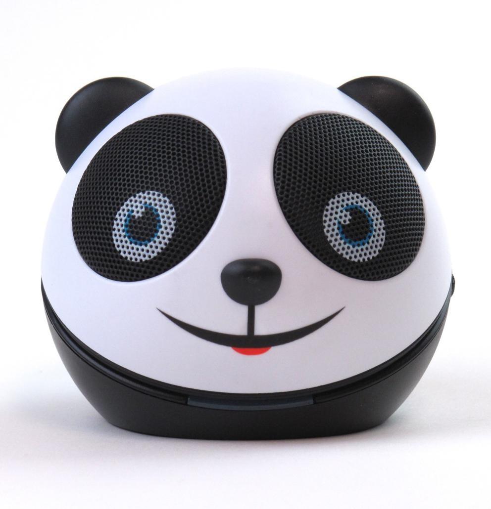 zoo tunes amanda the panda compact portable character stereo speaker. Black Bedroom Furniture Sets. Home Design Ideas