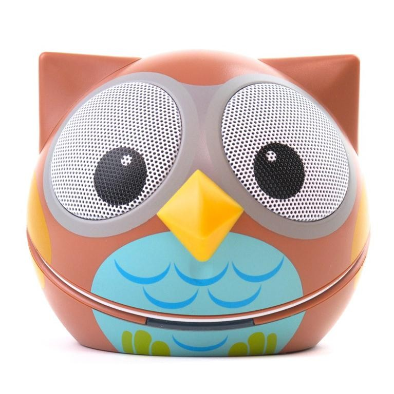 zoo tunes ogle the owl compact portable character stereo speaker. Black Bedroom Furniture Sets. Home Design Ideas