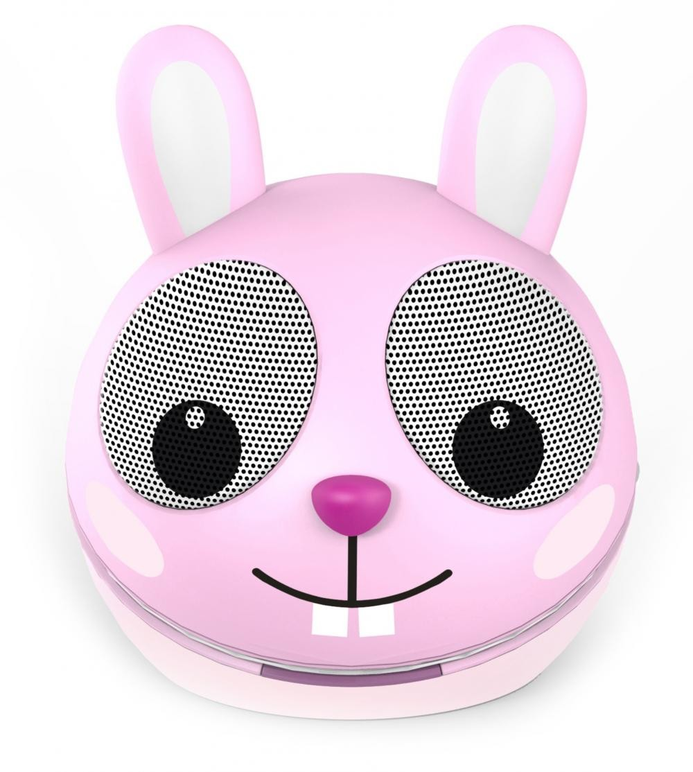 zoo tunes razzle the rabbit compact portable character stereo speaker. Black Bedroom Furniture Sets. Home Design Ideas