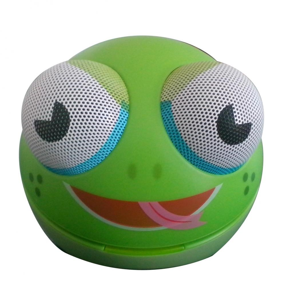 zoo tunes freddy the frog compact portable character stereo speaker. Black Bedroom Furniture Sets. Home Design Ideas