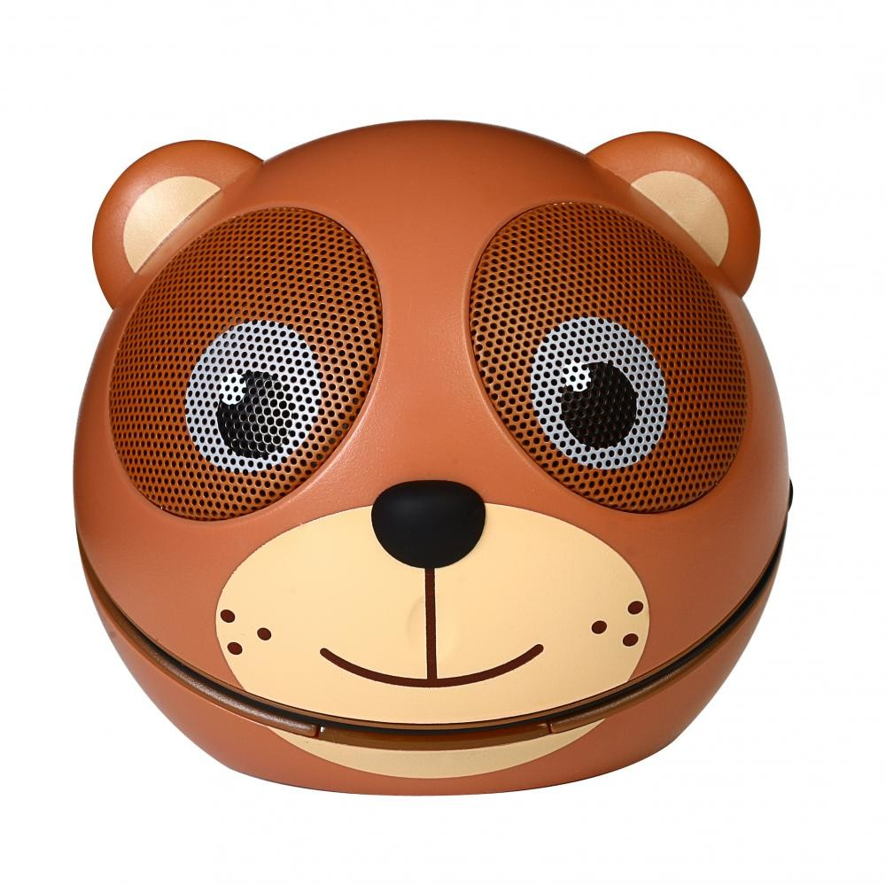 zoo tunes compact portable bluetooth stereo speaker cocoa the bear. Black Bedroom Furniture Sets. Home Design Ideas
