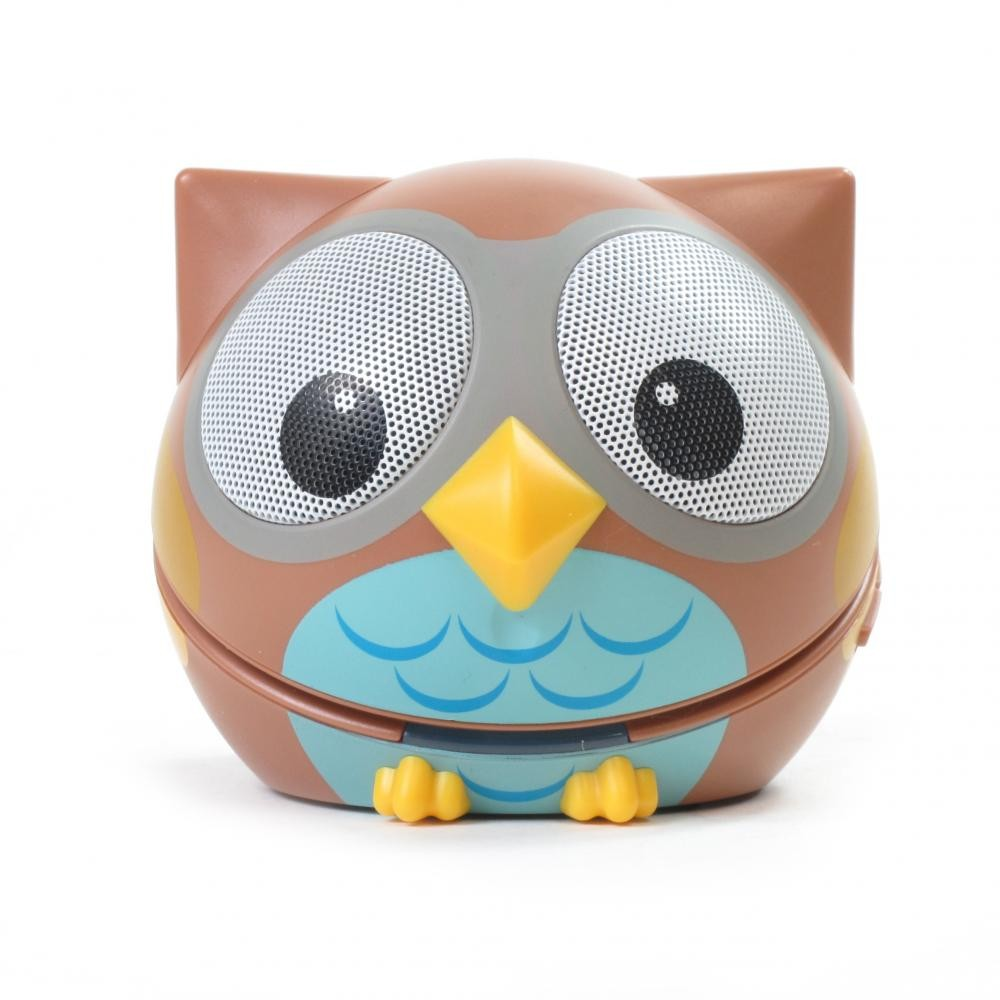zoo tunes compact portable bluetooth stereo speaker ogle the owl. Black Bedroom Furniture Sets. Home Design Ideas