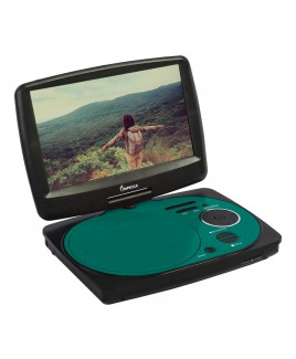 """Impecca 9"""" Swivel Portable DVD Player, Teal"""