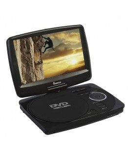 9 Inch Swivel Portable DVD Player, Black