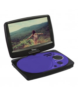 9 Inch Swivel Portable DVD Player, Purple