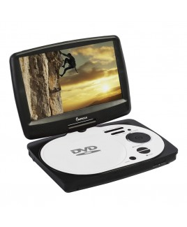 9 Inch Swivel Portable DVD Player, White