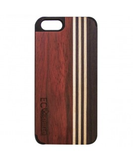 Eco Shield Natural Wood Case for iPhone 6 and iPhone 6s , Forest Symphony (made of Rosewood, Maple, & Ebony)