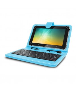Universal Mini Keyboard Case & Stand For 8 Inch Tablets - Blue
