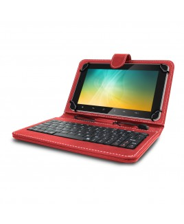 Universal Mini Keyboard Case & Stand For 8 Inch Tablets - Red