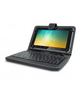 Universal Mini Keyboard Case & Stand For 9 Inch Tablets - Black