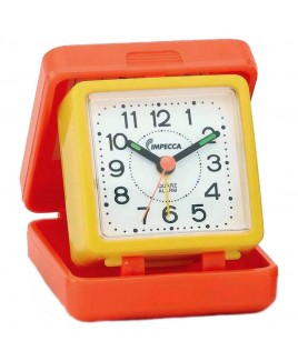 Travel Beep Alarm Clock, Orange/Yellow