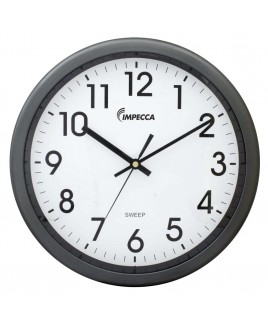 12 Inch Quiet Movement Wall Clock - Grey