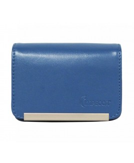 DCS86 Compact Leather Digital Camera Case - Blue