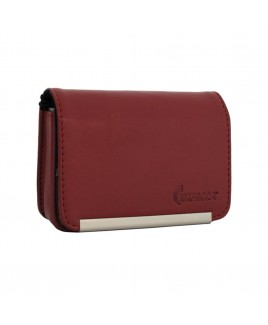 DCS86 Compact Leather Digital Camera Case - Burgandy