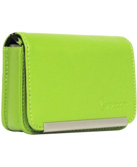 DCS86 Compact Leather Digital Camera Case - Lime