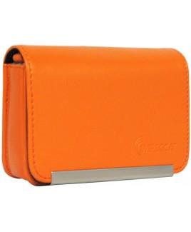 DCS86 Compact Leather Digital Camera Case - Orange