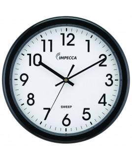 """Impecca 12"""" Quiet Movement Wall Clock, Black"""