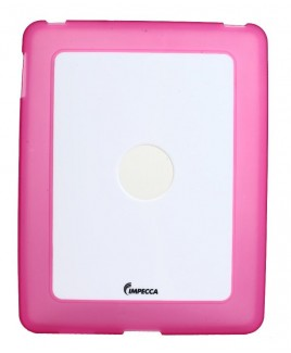 IPS101 Flexi-Clear TPU/Crystal Combination Protective Skin for iPad™ - Pink