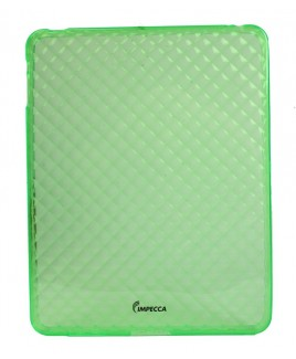 IPS121 Diamond Bubble Flexible TPU Protective Skin for iPad™ - Lime