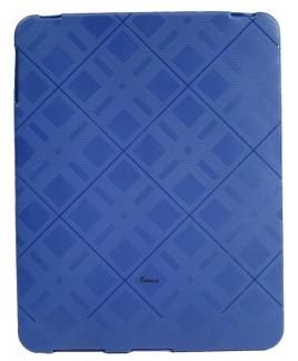 IPS122 Plaid Flexible TPU Protective Skin for iPad™ - Blue