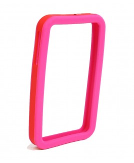 IPS226 Secure Grip Rubber Bumper Frame for iPhone 4™ <em>Dual Color</em> - Pink/Red
