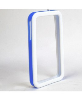 IPS226 Secure Grip Rubber Bumper Frame for iPhone 4™ <em>Dual Color</em> - White/Blue