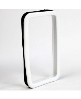 IPS226 Secure Grip Rubber Bumper Frame for iPhone 4™ <em>Dual Color</em> - White/Black