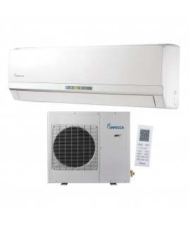 9,000 BTU Ductless Heat & Cool Indoor & Outdoor Wall Mounted Split Unit Combination with Inverter Technology
