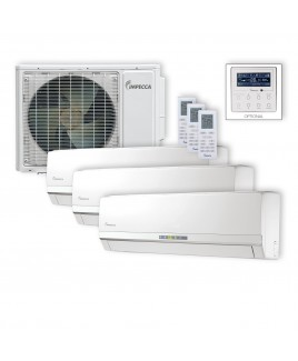 Flex Series 3 9,000BTU Wall-Mounted Indoor Ductless Split Units, and 29,000 BTU Outdoor Unit with Inverter Technology
