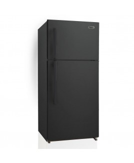 18 Cu. Ft. Apartment Refrigerator with Top Mount Freezer, Black