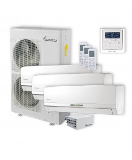 Flex Series 3 Wall-Mounted Indoor Ductless Split Units, and 52,900 BTU Outdoor Unit with Inverter Technology