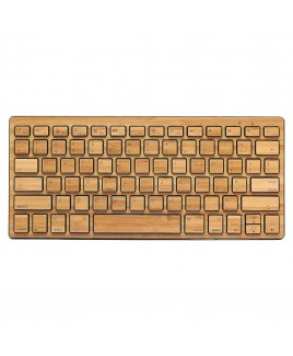 Compact Bluetooth Wireless Bamboo Keyboard, Black