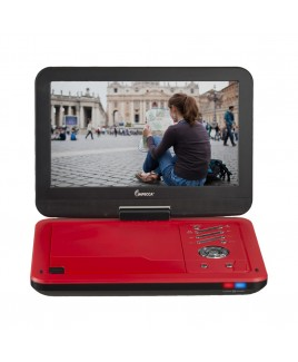 Portable DVD Player with 10.1 inch Swivel Screen - Scarlet Dynamite