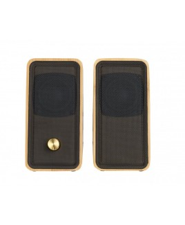 2.0-Channel USB Powered Bamboo PC Speaker