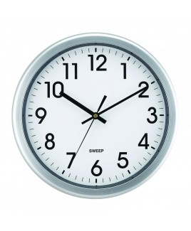 12 Inch Quiet Movement Wall Clock - Silver