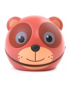 Zoo-Tunes Compact Portable Character Stereo Speaker,  Cocoa the Bear
