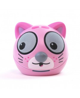 Zoo-Tunes Compact Portable Character Stereo Speaker, Taffy the Kitten