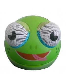 Zoo-Tunes Compact Portable Character Stereo Speaker, Freddy the Frog