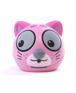 Zoo-Tunes Compact Portable Bluetooth Stereo Speaker, Taffy the Kitten