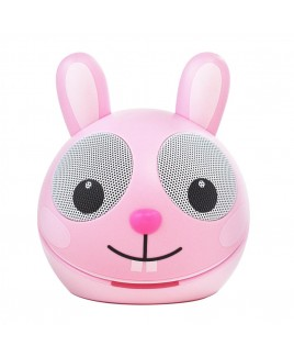 Zoo-Tunes Compact Portable Bluetooth Stereo Speaker, Razzle the Rabbit