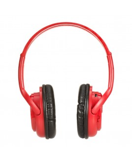 Impecca Bluetooth Stereo Headset + Music Player, Red