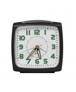 Bell Alarm Clock, Metallic Black