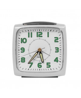 Bell Alarm Clock, Metallic White
