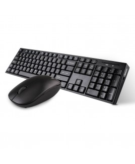 Wireless Multimedia Keyboard and Mouse Combo, Black